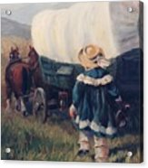 The Little Pioneer Western Art Acrylic Print