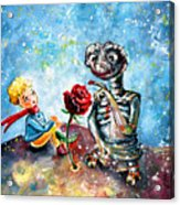 The Little Prince And E.t. Acrylic Print