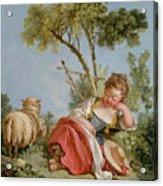 The Little Shepherdess Acrylic Print