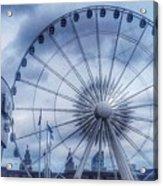 The Liverpool Wheel In Blues Acrylic Print