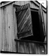 The Loft Door In Black And White Acrylic Print