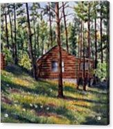 The Log Cabin Acrylic Print