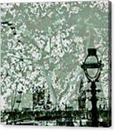 The London Eye And A Bridge Acrylic Print