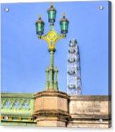 The London Eye And Westminster Bridge Acrylic Print