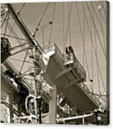 The London Eye In Sepia Acrylic Print