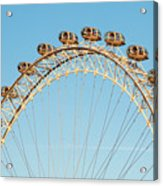The London Eye Ferris Wheel Against A Cold Blue Winter Sky Acrylic Print