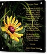The Lone Flower Acrylic Print