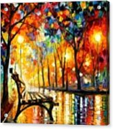 The Loneliness Of Autumn Acrylic Print by Leonid Afremov