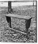 The Lonely Bench Acrylic Print