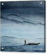 The Lonely Boat Man Acrylic Print