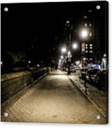 The Lonely Street By Central Park Ny Acrylic Print