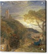 The Lonely Tower Acrylic Print by Samuel Palmer
