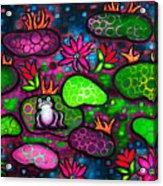 The Lonesome Frog II Acrylic Print by Brenda Higginson