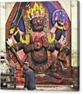 The Lord Of Time - Kala Bhairava Acrylic Print