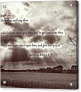 The Lords Blessing Acrylic Print