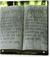 The Lord's Prayer Acrylic Print