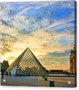 The Louvre At Sunset Acrylic Print