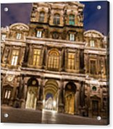 The Louvre Museum At Night Acrylic Print