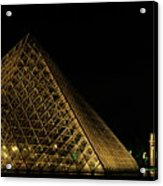 The Louvre Pyramid And The Arc De Triomphe Du Carrousel At Night Acrylic Print