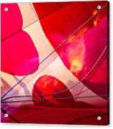 Hearts A' Fire - The Love Hot Air Balloon Acrylic Print
