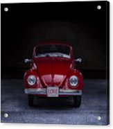 The Love Bug Square Acrylic Print