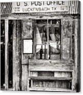 The Luckenbach Post Office Acrylic Print