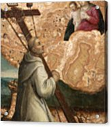 The Madonna And Child Appearing To Saint Bruno With The Instruments Of The Passion Acrylic Print