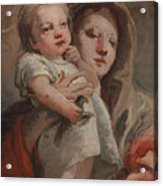 The Madonna And Child With A Goldfinch Acrylic Print