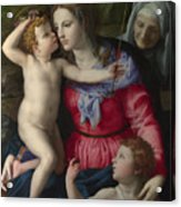 The Madonna And Child With Saints Acrylic Print