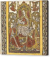 The Madonna Enthroned With Eighteen Holy Women Acrylic Print