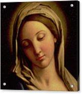 The Madonna Acrylic Print by Il Sassoferrato