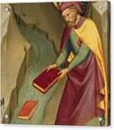 The Magus Hermogenes Casting His Magic Books Into The Water Acrylic Print