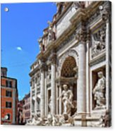 The Majesty Of The Trevi Fountain In Rome Acrylic Print