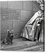 The Man And His Dog Acrylic Print