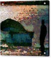The Man And His Fishing Boat Acrylic Print