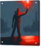 The Man With The Flare Acrylic Print
