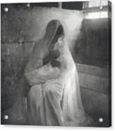 The Manger, By Gertrude Kasebier, Shows Acrylic Print by Everett