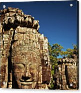 The Many Faces Of Bayon Temple, Angkor Thom, Angkor Wat Temple Complex, Cambodia Acrylic Print
