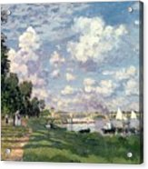 The Marina At Argenteuil Acrylic Print by Claude Monet
