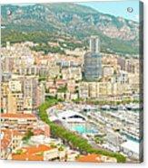 The Marina In Monaco Acrylic Print