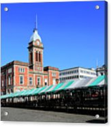The Market Hall, Market Square, Chesterfield Town, Derbyshire Acrylic Print