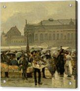 The Market In Antwerp Acrylic Print