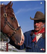 The Marlboro Man In Ocala Florida Acrylic Print