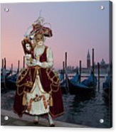 The Masks Of Venice Carnival Acrylic Print