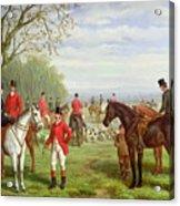 The Meet Acrylic Print by Edward Benjamin Herberte