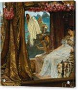 The Meeting Of Antony And Cleopatra By Lawrence Alma-tadema Acrylic Print