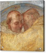 The Meeting Of St Francis And St Dominic  Acrylic Print