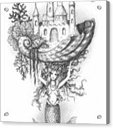 The Mermaid Fantasy Acrylic Print