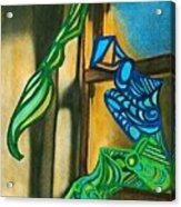 The Mermaid On The Window Sill Acrylic Print