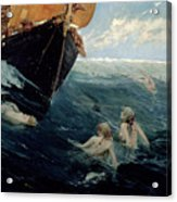 The Mermaid's Rock Acrylic Print by Edward Matthew Hale